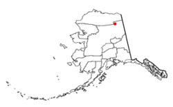 Location of Arctic Village, Alaska (Topo)